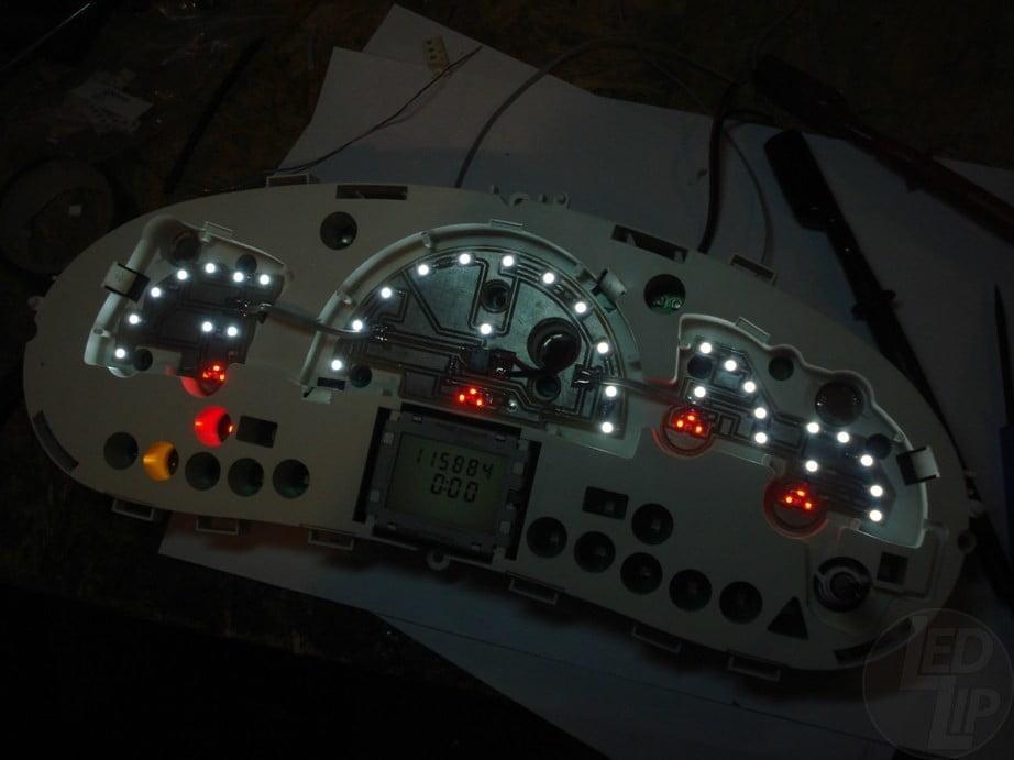 Светодиодные платы подсветки щитка приборов Лада Калина