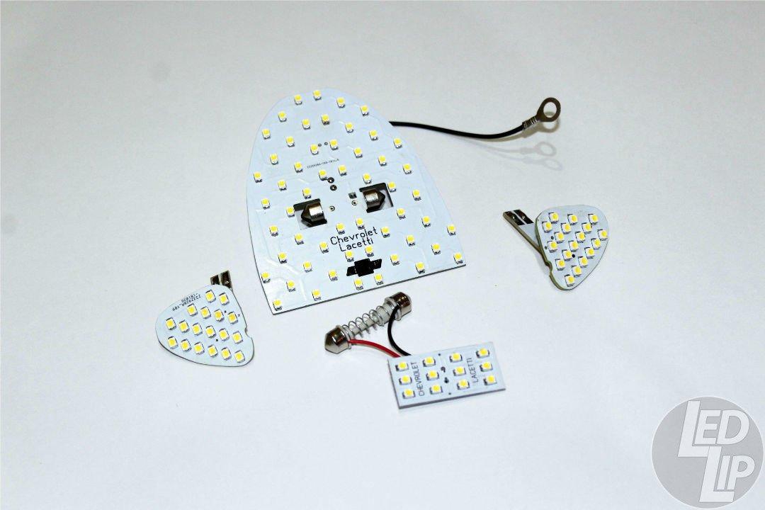 Светодиодные модули подсветки плафонов Chevrolet Lacetti, Ravon Gentra, Daewoo Gentra