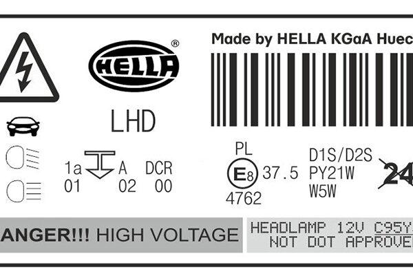 Наклейка для фар Hella DCR