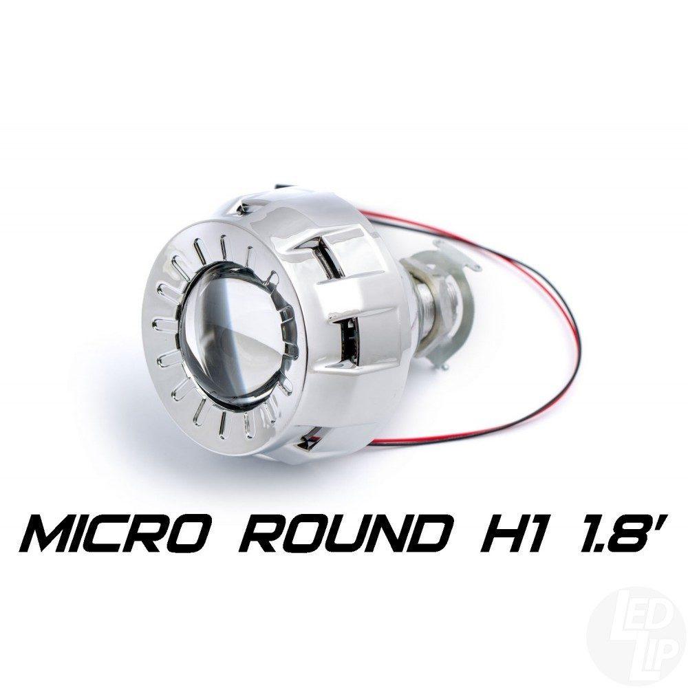 Биксеноновая линза Optimа Micro Round 1.8 H1 (бленда круглая)