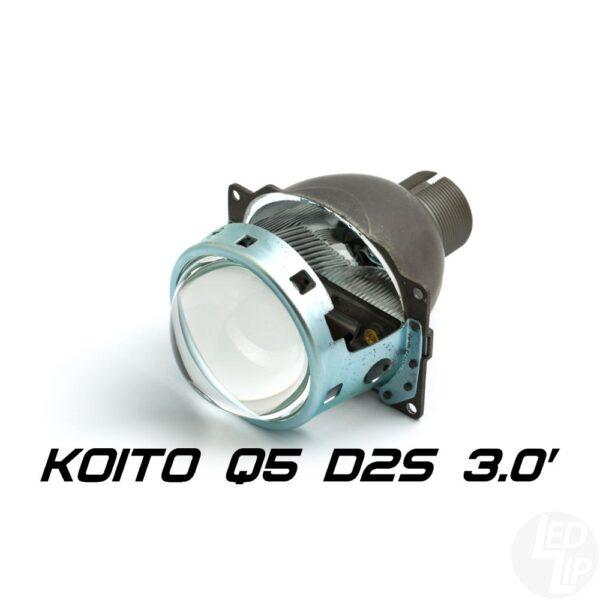 Биксеноновая линза Koito Q5 3.0 D2S, круглый модуль