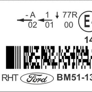 Наклейка для фар Ford Focus DCR