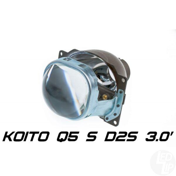 Биксеноновая линза Koito Q5 Square 3.0 D2S, квадратный модуль