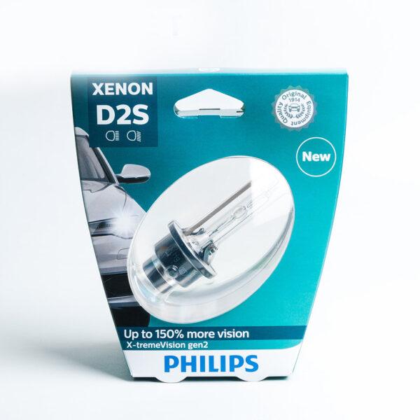 Ксеноновая лампа Philips D2S 85122XV2 X-treme Vision +150%