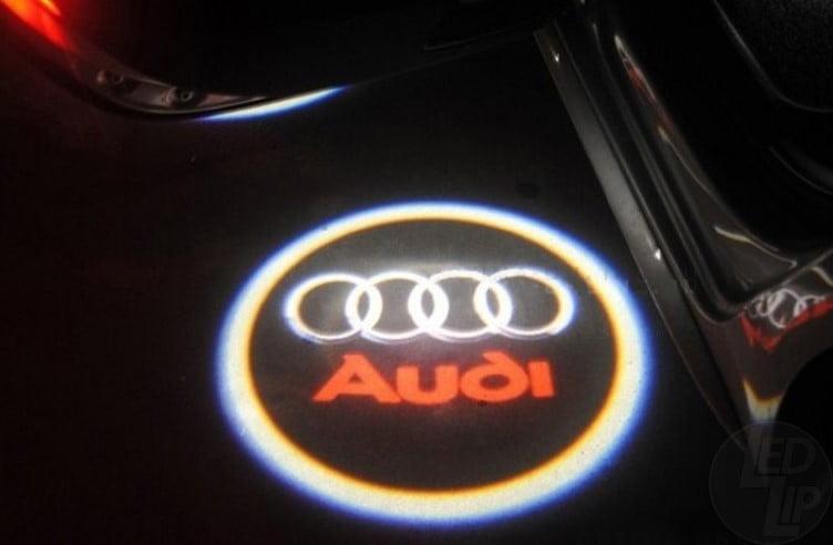 Светодиодная подсветка дверей с логотипом AUDI