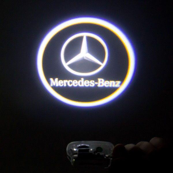 Светодиодная подсветка дверей с логотипом MERCEDES BENZ C-class