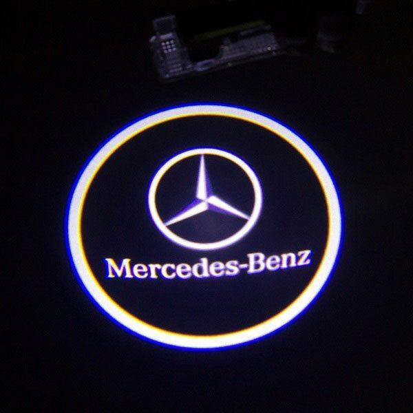 Светодиодная подсветка дверей с логотипом MERCEDES BENZ E-class