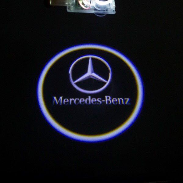 Светодиодная подсветка дверей с логотипом MERCEDES BENZ S-class