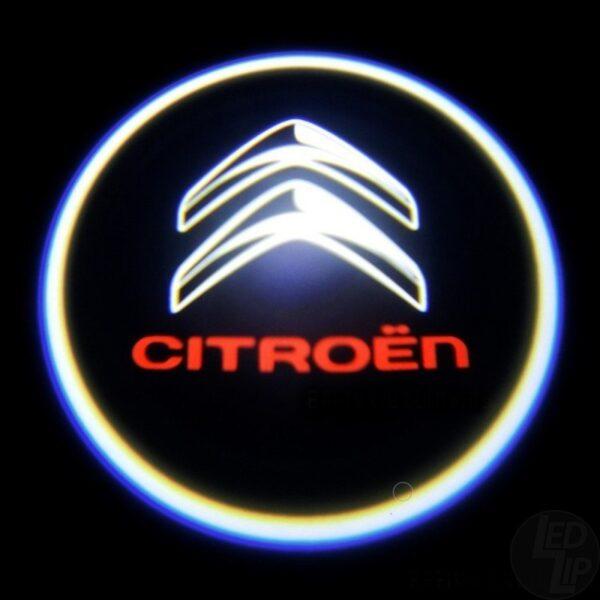 Светодиодная подсветка дверей с логотипом CITROEN