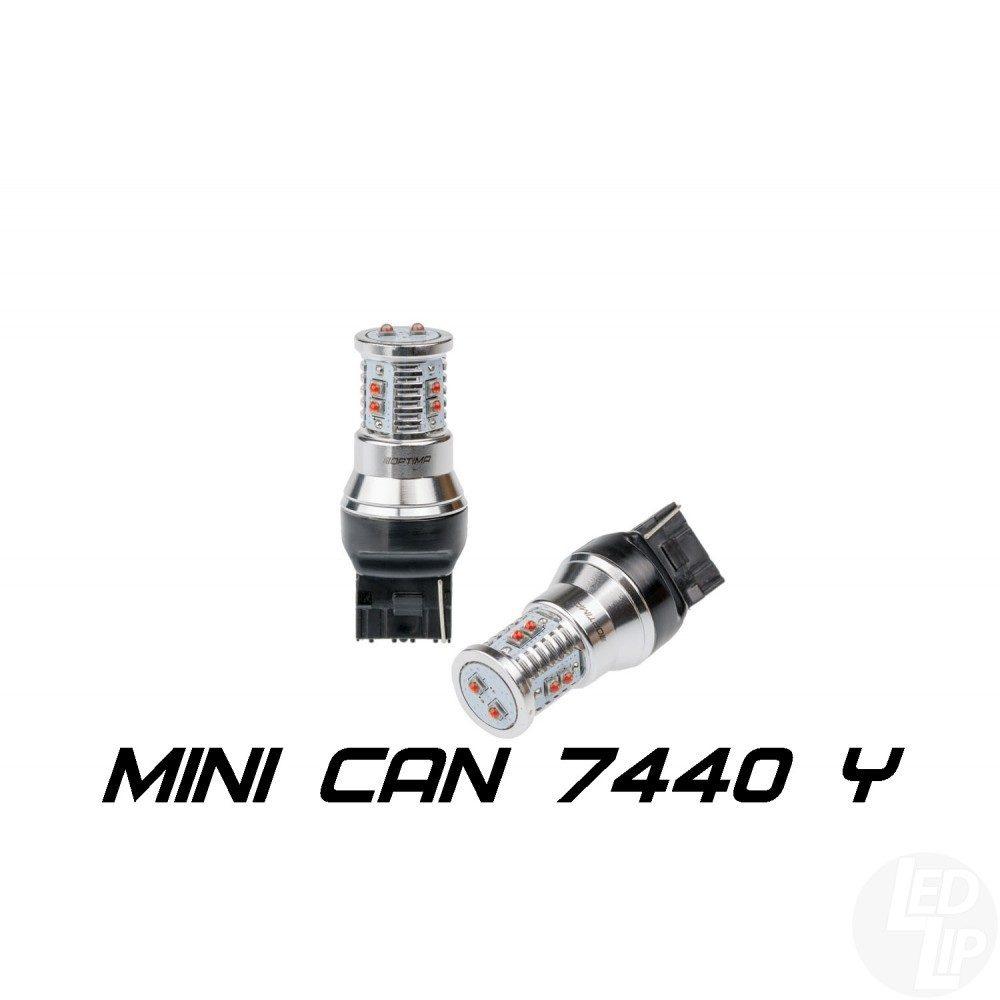 Светодиодные лампы W21W (7440) Optima Premium MINI желтая с обманкой