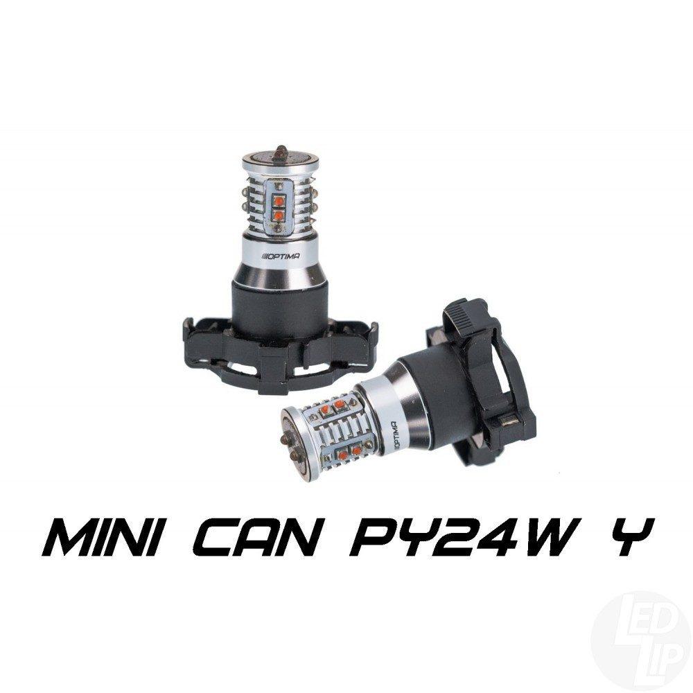 Светодиодные лампы PY24W Optima Premium MINI желтая с обманкой