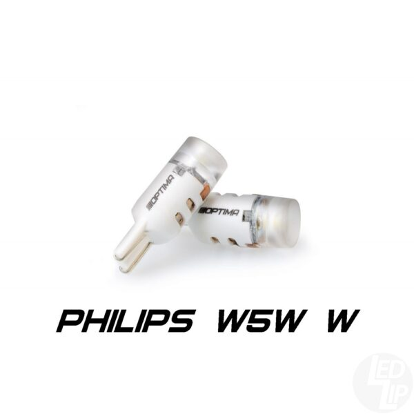 Светодиодные лампы W5W (T10) Optima Premium PHILIPS 5W LENS Chip 5W 12V