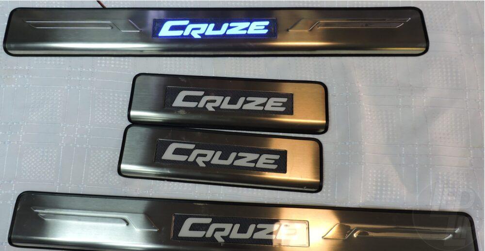 Накладки на пороги с подсветкой Chevrolet Cruze