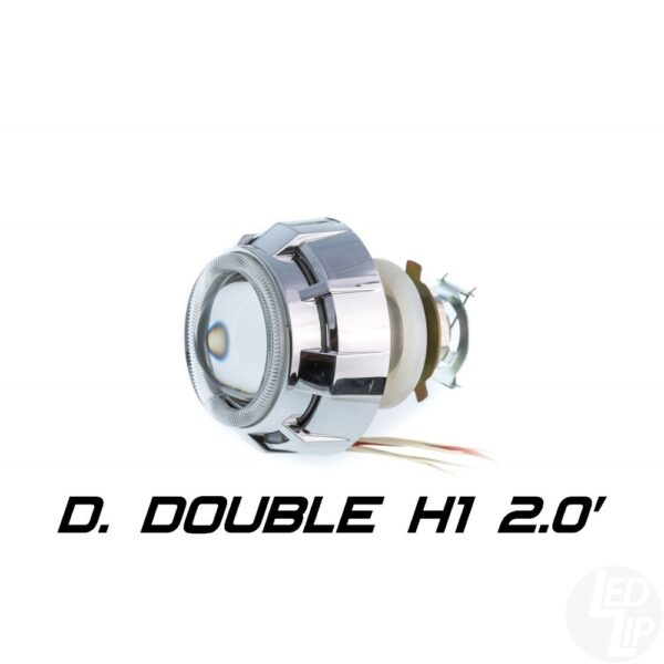 Биксеноновая линза Optimа Moto Dynamic Double CCFL 2.0 H1 (бленда круглая 808 с двумя АГ CCFL)