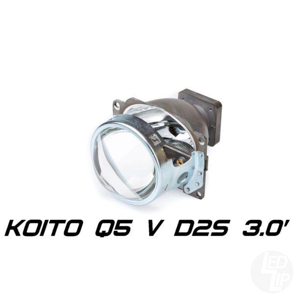Биксеноновая линза Koito Q5 Versus 3.0 D1S/D2S, круглый модуль