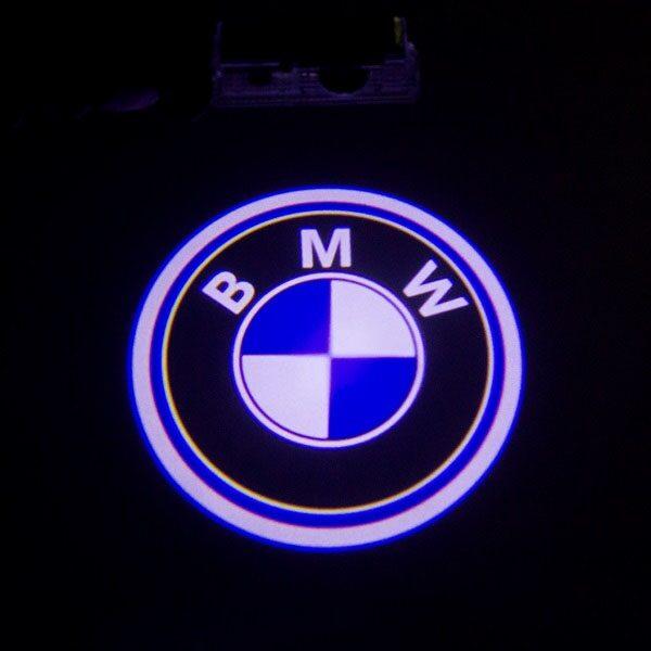 Светодиодная подсветка дверей с логотипом BMW