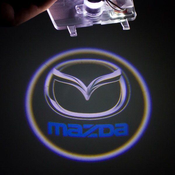 Светодиодная подсветка дверей с логотипом MAZDA