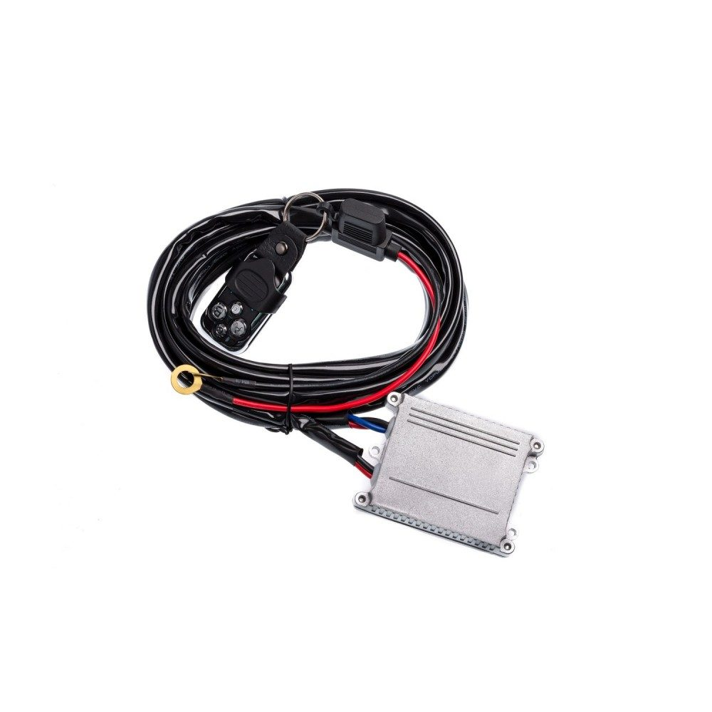 Проводка для фар Optima Nanoled с реле и выключателем 12-24V 30A 3,0 метра