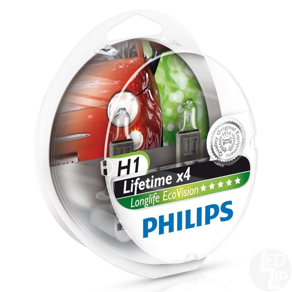 Галогеновые лампы Philips H1 LongLife EvoVision,12258LLECOS2