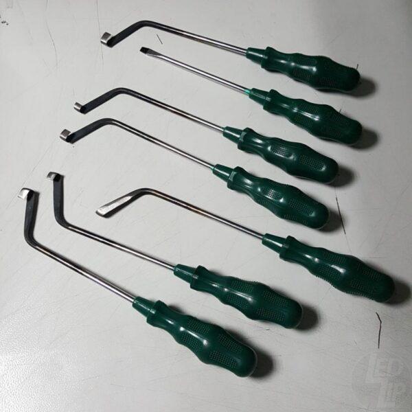 Инструмент расклеивания не разборных фар - 7 Предметов