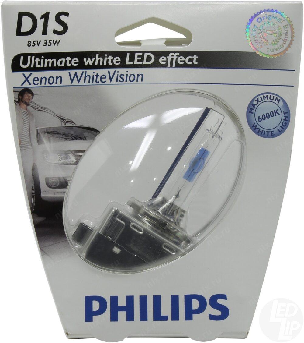 Ксеноновая лампа Philips WhiteVision D1S 85415WHVC1