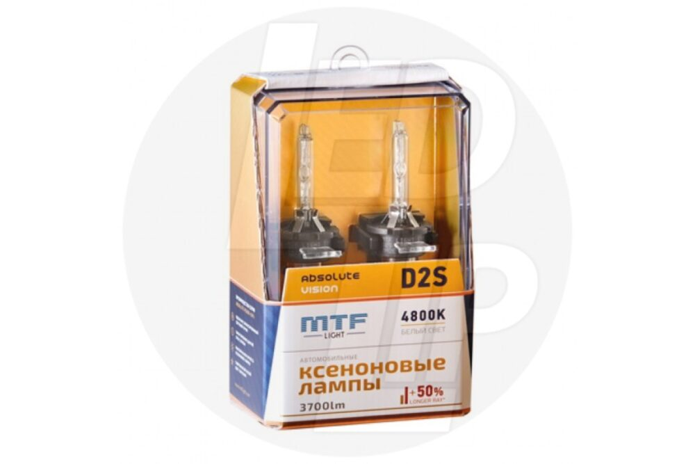 Ксеноновые лампы D2S MTF-Light Absolute Vision 3700lm (2шт.)