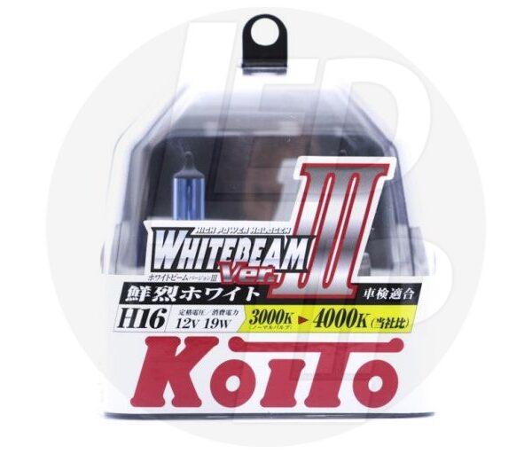 Галогеновая лампа Koito Whitebeam H16 4000K 12V 19W P0749W