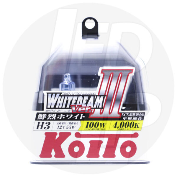 Галогеновая лампа Koito Whitebeam H3 4000K 12V 55W P0751W