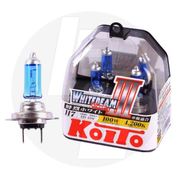 Галогеновая лампа Koito Whitebeam H7 4200K 12V 55W (100W) P0755W