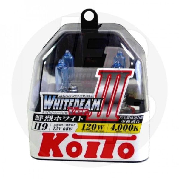 Галогеновая лампа Koito Whitebeam H9 4000K 12V 65W (120W) P0759W