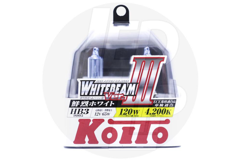 Галогеновая лампа Koito Whitebeam HB3 4200K 12V 65W (120W) P0756W