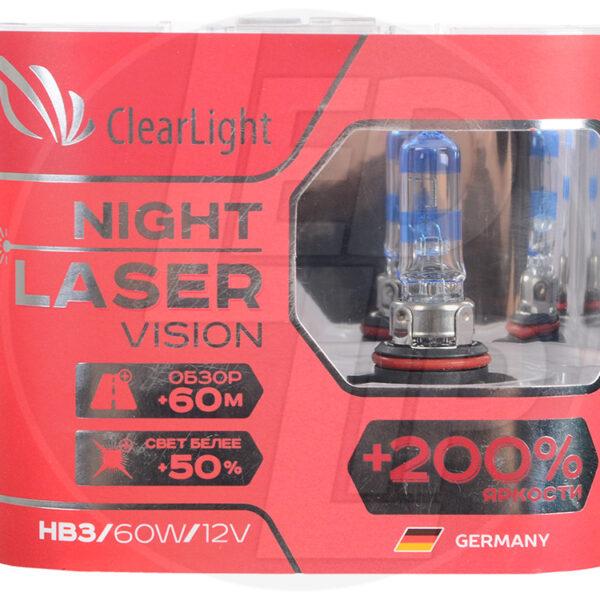 Галогеновая лампа ClearLight Night Laser Vision +200% HB3 12V 55W