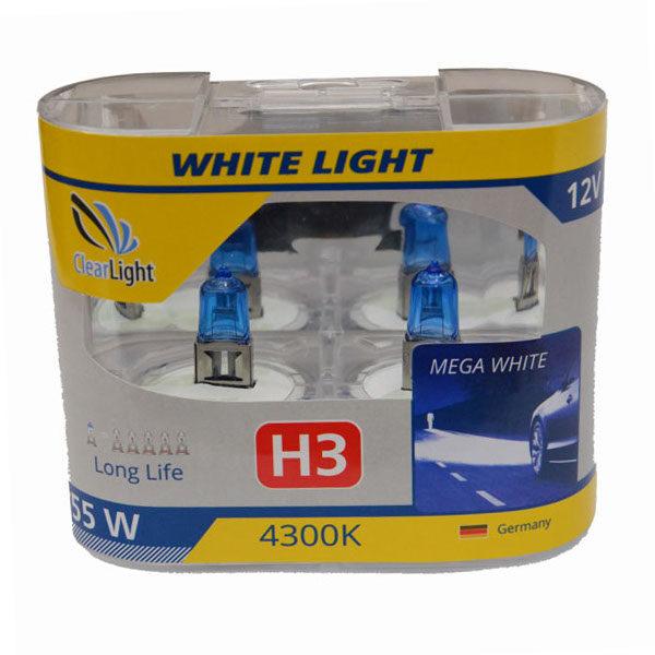 Галогеновая лампа ClearLight WHITELIGHT H3 12V-55W