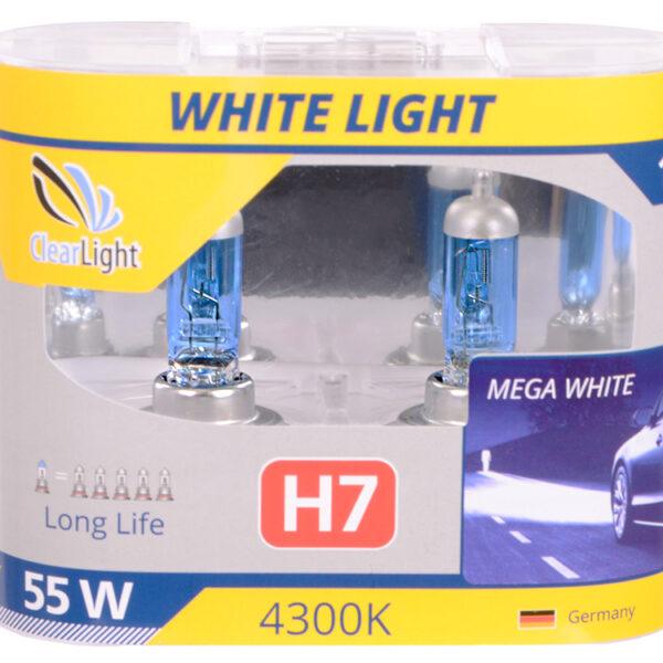 Галогеновая лампа ClearLight WHITELIGHT H7 12V-55W