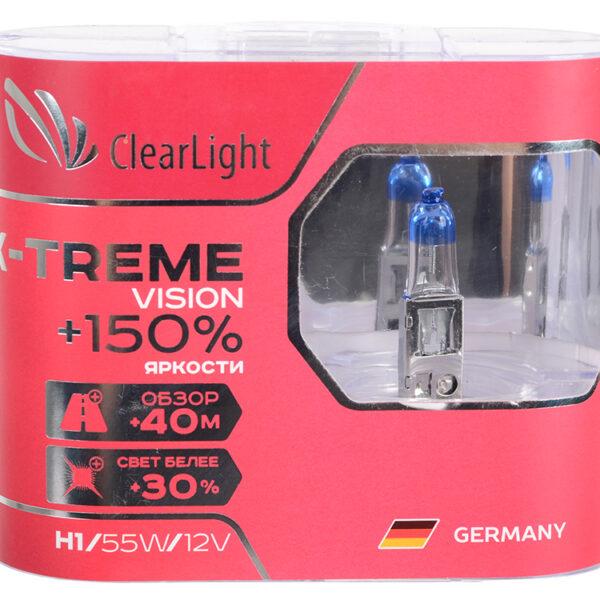 Галогеновая лампа ClearLight X-Treme Vision H1 +150% 12V-55W