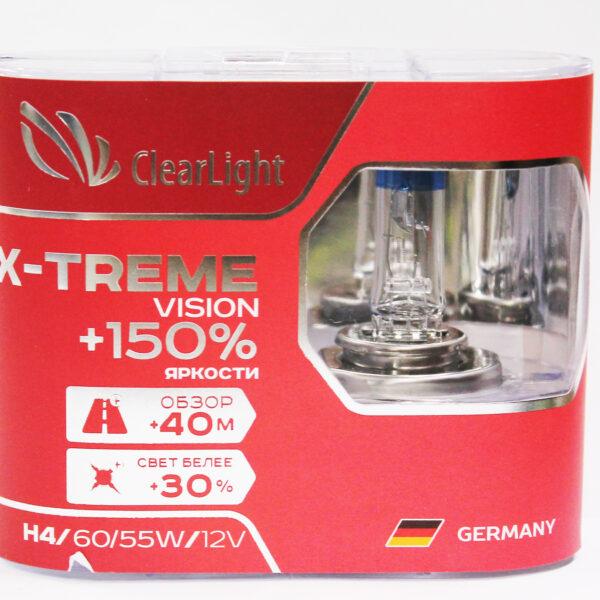 Галогеновая лампа ClearLight X-Treme Vision H4 +150 12V-55W