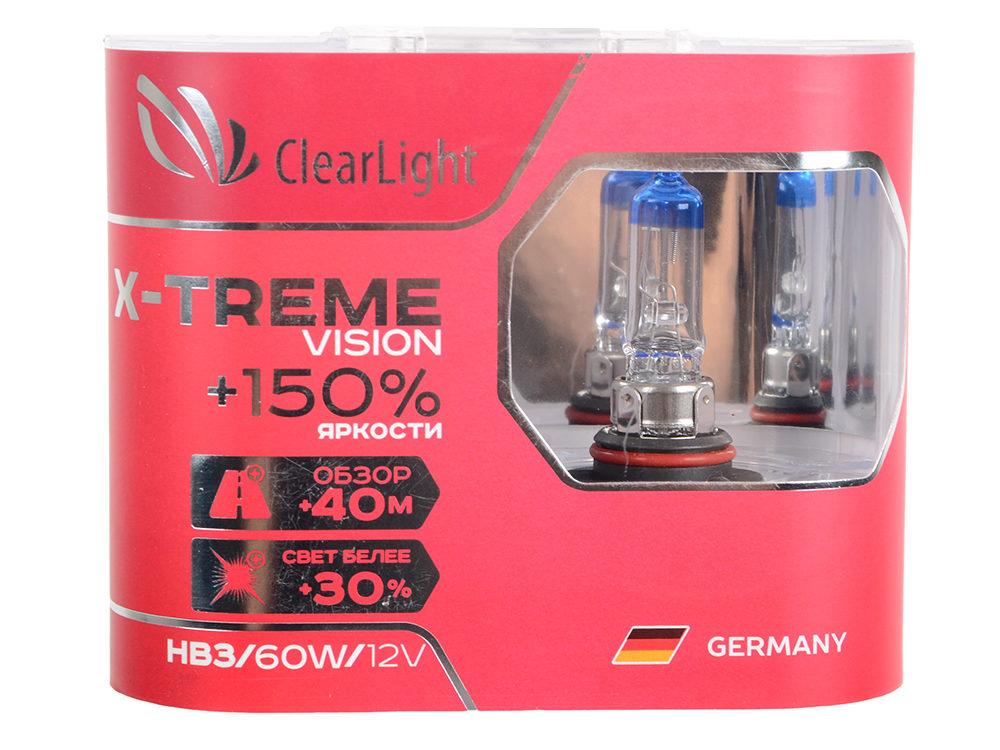 Галогеновая лампа ClearLight X-Treme Vision HB3 +150%, 12V-55W