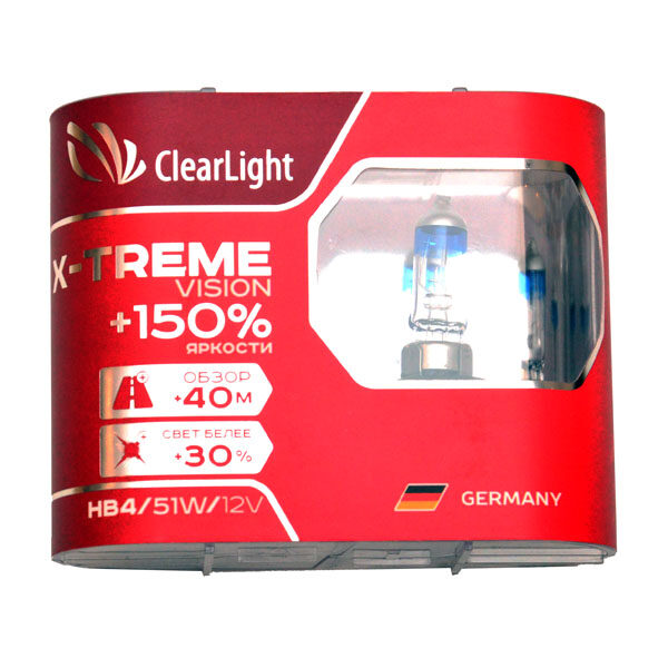 Галогеновая лампа ClearLight X-Treme Vision HB4 +150%, 12V-55W