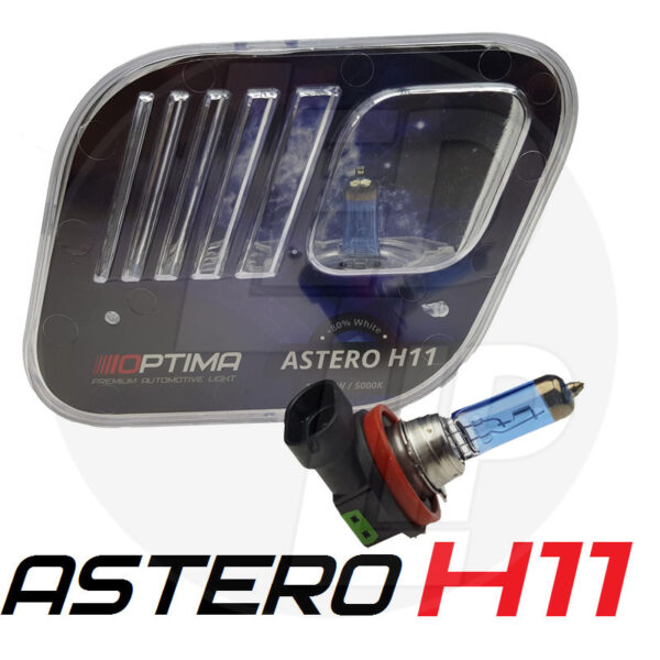 Галогеновая лампа OPTIMA Astero H11 +80% 12v55w 5000k