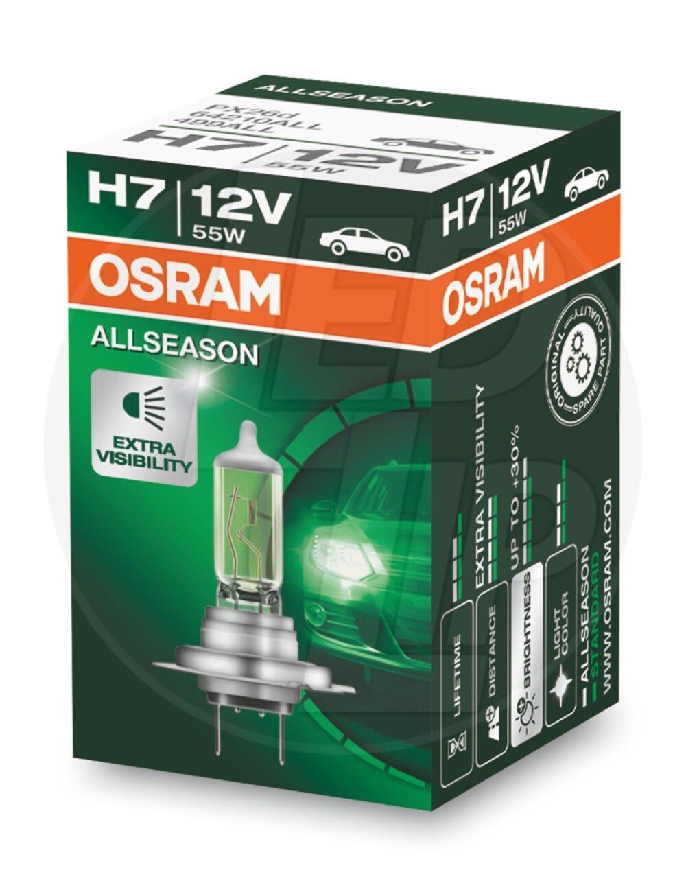 Галогеновая лампа osram H7 64210 ALL Halogen
