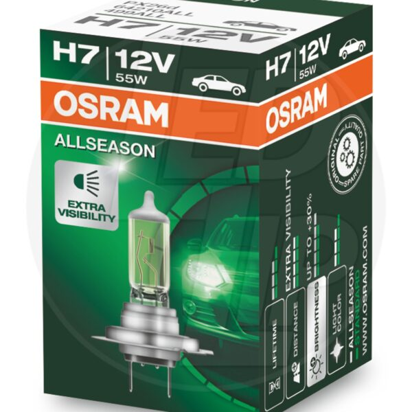 Галогеновая лампа osram H7 64210 ALL Halogen