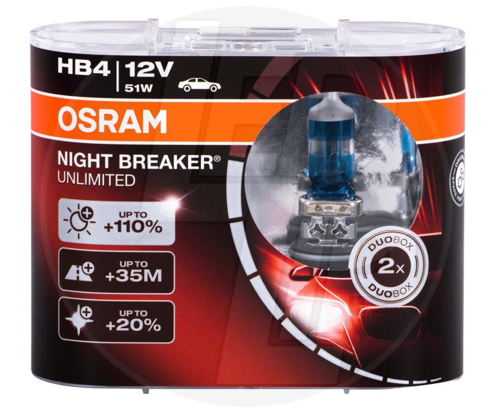 Галогеновая лампа osram HB4 9006 NBU DUOBOX