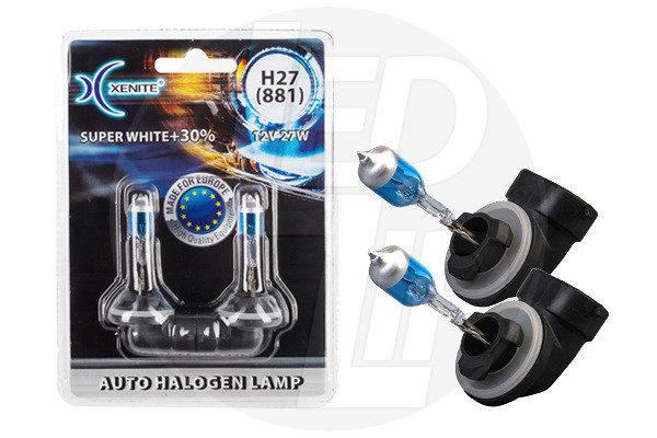 Галогеновая лампа XENITE H27 881 Super WHITE 12V 27W +30