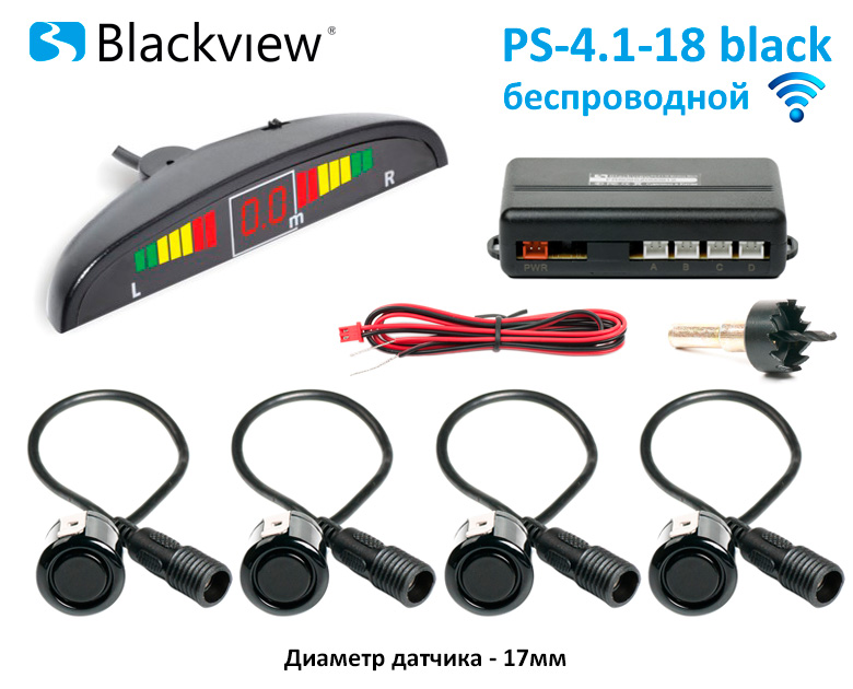 Парктроник Blackview  PS 4.1-18 Black 17mm